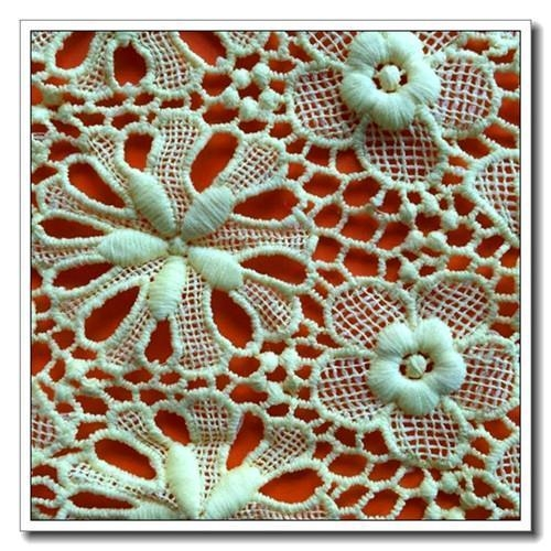 China Retro Embroidered Lace Fabric