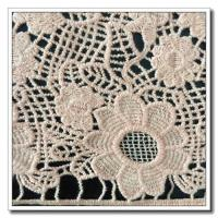 China Ivory Embroidered Organza Lace Fabric on sale