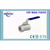Quality WCB Stainless Steel 1PC NPT BSPT Threaded Ball Valve With Locking Handle 1000WOG wholesale