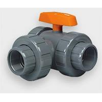Quality 1/2 CPVC/FPM Three-Way Lateral Ball Valves - Skt/Thd wholesale