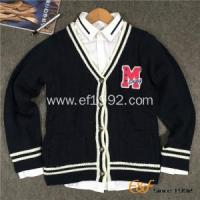 Quality Boy Button-down Cardigan Cable Sweater with Custom Logo wholesale