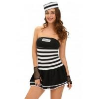 Cheap New Arrivals 4pcs Sexy Guilty Prisoner Costume for sale