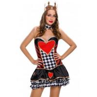 Cheap New Arrivals 2pcs Sexy Queen of Hearts Cosplay Costume for sale