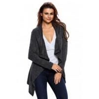 Quality New Arrivals Black Asymmetric Wrapped Women Sweater wholesale