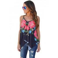 Quality New Arrivals Navy Floral Print Summer Holiday Tank Top wholesale