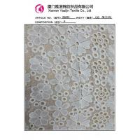 China Ivory Polyester Embroidered Lace Fabric By The Yard (S8093) on sale
