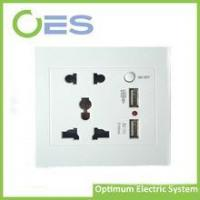 Buy cheap Universal electric USB wall socket double socket with On/Off button 5V 2100mA product