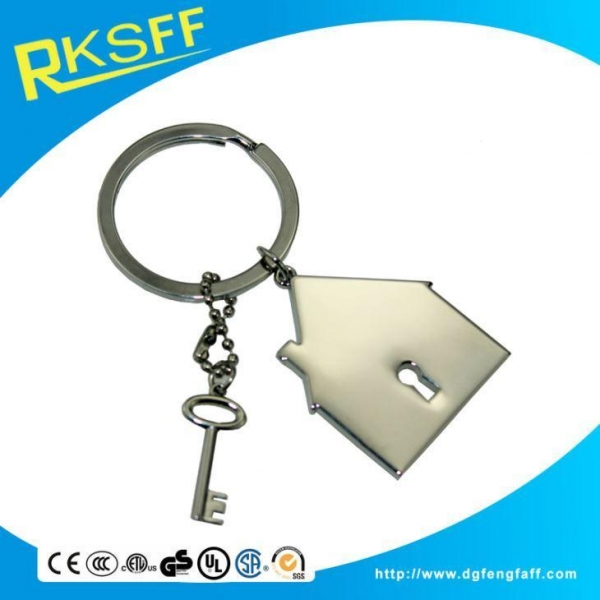 China Zinc Alloy House Shaped Keychain