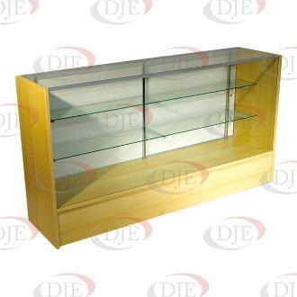 """Cheap Display Cases & Counters 70"""" Full View Showcase - Maple for sale"""