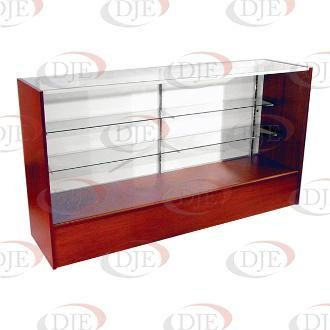 """Cheap Display Cases & Counters 70"""" Full View Showcase - Walnut for sale"""