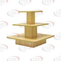 Quality Floor Displays 3 Tier Square Display Table - Maple wholesale