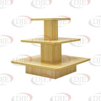 Cheap Floor Displays 3 Tier Square Display Table - Maple for sale
