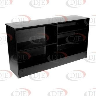 """Cheap Display Cases & Counters 70"""" Wrap Counter - Black for sale"""