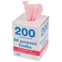 China Perola JayTex All Purpose Perforated Cloths on a Roll in Dispenser Box Red on sale