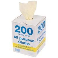 China Perola JayTex All Purpose Perforated Cloths on a Roll in Dispenser Box Yellow on sale