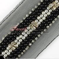 China Beaded Sequin lace trimming wholesale on sale