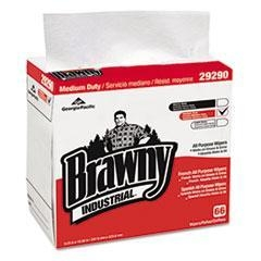 Cheap GPC 292-90/03 Brawny Industrial Medium-Duty Airlaid 1/4-Fold Wipes, 9 1/4 x 16 1/2, White for sale