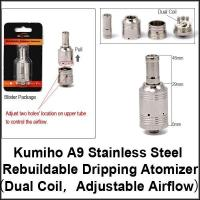 China Rebuildable Atomizer Kumiho A9 Dual Coil Rebuildable Dripping Atomizer on sale