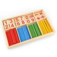 Quality 52 Counting Stick Wooden Mathematics Material Educational Toy for Kid Child wholesale