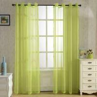 Quality SINOGEM Fashionable Grommet Finished Curtains Soft Sheer Panels Voile Curtains Delicate Sheer Curtai wholesale
