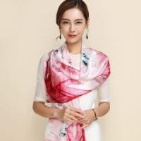 China Fashion Women's Scarf Hot Sale Mulberry Silk Scarves Shawl Female Long Natural Silk Scarf on sale