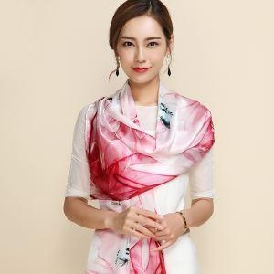 Cheap Fashion Women's Scarf Hot Sale Mulberry Silk Scarves Shawl Female Long Natural Silk Scarf for sale