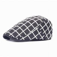 Quality Summer Autumn Sports Cabbie Ivy Flat Caps for Men Women Adjustable Comfortable Peaked Flat Plaid Hat wholesale