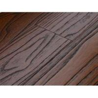 China Wire Brushed Tropical Teak Locust Hard Wood Floors Mahogany Color on sale