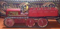 China Vintage Tin Marx Toy Giant Reversing Tractor Truck With Farmer on sale