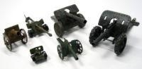 Cheap Vtg Lot German Tippco Hausser Lineol Artillery Tin Toy Cannon Guns +russia for sale