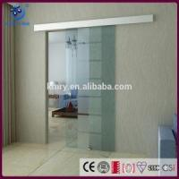 Quality New Frameless Sliding Glass Door,Custom Size, Frosted Glas, Aluminum Track (KT9003) wholesale