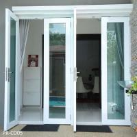 China Tempered glass aluminum swing door on sale