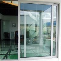 China Aluminum sliding glass patio doors with blinds on sale