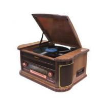 Quality 3 Speed Record Turntable, with FM DAB Radio USB Bluetooth AUX in, RCA Out Headphone CD MP3 Cassette wholesale