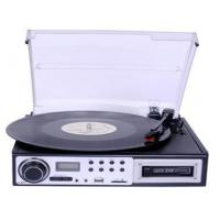 Buy cheap Portable Turntable with Bluetooth Player, USB PC Encoding CD MP3 Cassette RCA Headphone from wholesalers