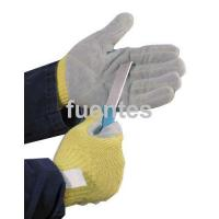 Quality 5-32 kevlar cow split leather cut resistant gloves wholesale