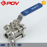 Quality Stainless steel Manual Operated Sanitary Three Piece Ball Valve wholesale