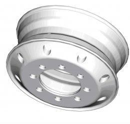 Cheap Trailer of forged aluminum wheels for sale