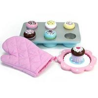 China Melissa & Doug Bake and Decorate Wooden Cupcake Play Food Set on sale