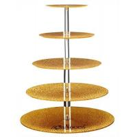 Quality Cake And Cupcake Display. 3-Tier display stand. Chrome-plated finish and crystal-clear plates. wholesale