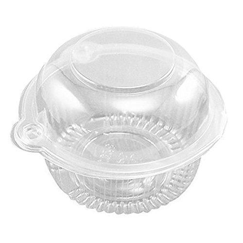 Cheap Clear Dome Individual Plastic Cupcake Muffin Single Container Box (50 Pcs) for sale