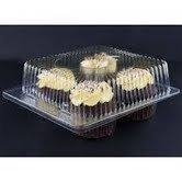 Cheap Clear Jumbo Cupcake Muffin Container Boxes Holds 4 jumbo Cupcake muffins each - 11 boxes for sale