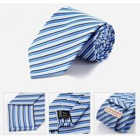 Quality Discount Designer Nave Blue Striped Ties wholesale
