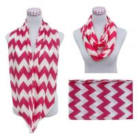 Buy cheap Custom Printing Poly Jersey Cotton Chevron Infinity Scarf from wholesalers