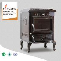 China OLYMBERYL Large Brown Enamel Cast Iron Wood Burning Stove With Water Boiler HF443B on sale
