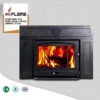 China HiFlame Over 20KW Large Fireplace Frame Steel Body Cast Iron Fireplace Insert HF577IU3 on sale