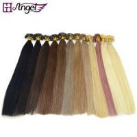 Quality Pre Bonded U / Nail Tip Capsule Natural Keratin Real Human Hair Extensions wholesale