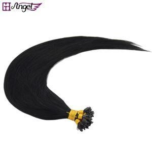 Cheap Comb T Fan Tip Feather Fusion Hair Extensions 100% Real Hair Silk Straight and Thick for sale