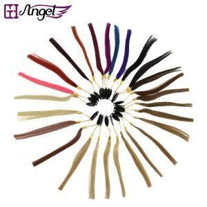 Cheap 100% Human Hair Color Chart/ Rings Swatch for Customize Hair Extensions 27 Colors for sale