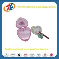 Plastic Heart Box With Customized Eraser Novelty Stationery Set